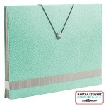Shagreen Accordion File- in blue