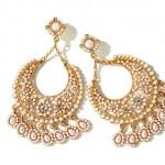 Rita Hayworth Slim Pearl Chandelier Earrings