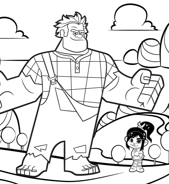Free Downloads: WRECK-IT RALPH Coloring Sheets | Lady and ...