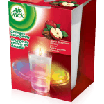 Air Wick Color Changing Candle apple box