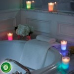 Air Wick Color Changing Candle bath
