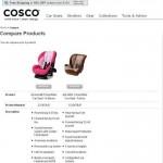 Cosco Compare Screen