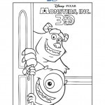 monsters inc 3d coloring sheets