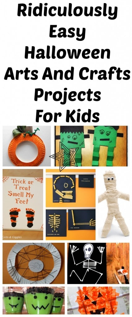 easy halloween crafts for kids 10 ridiculously easy arts and crafts projects to 6520
