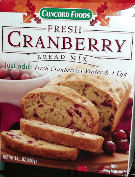 Concord Foods Cranberry Bread Mix