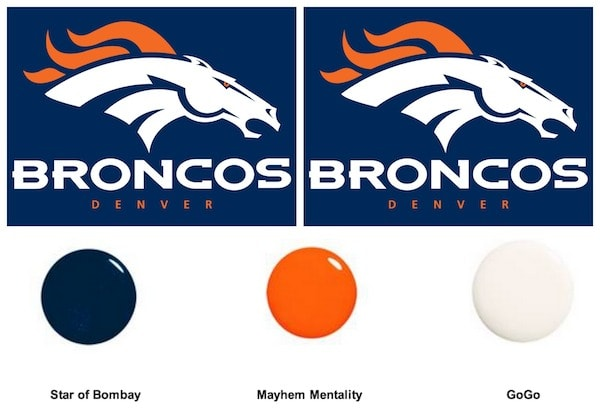 denver bronco fans nail polish colors you need for the
