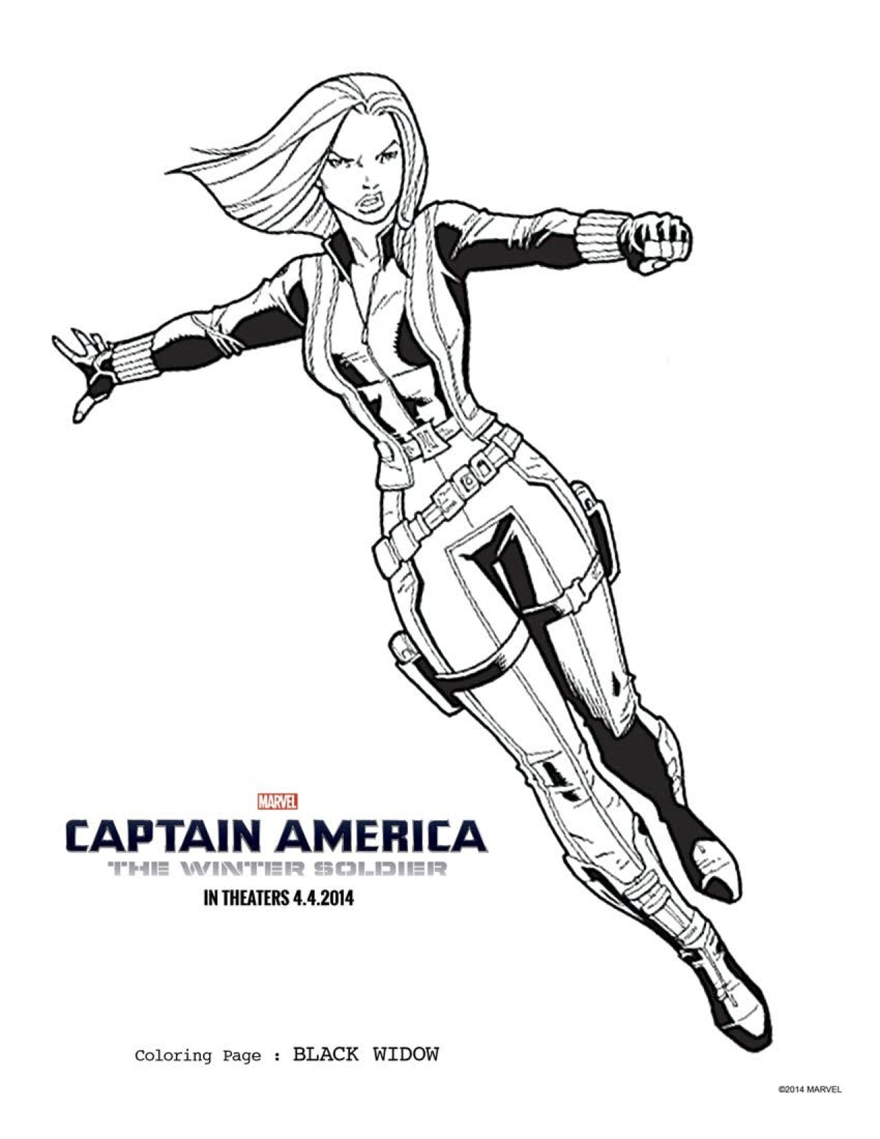 FREE Captain America 2 Coloring