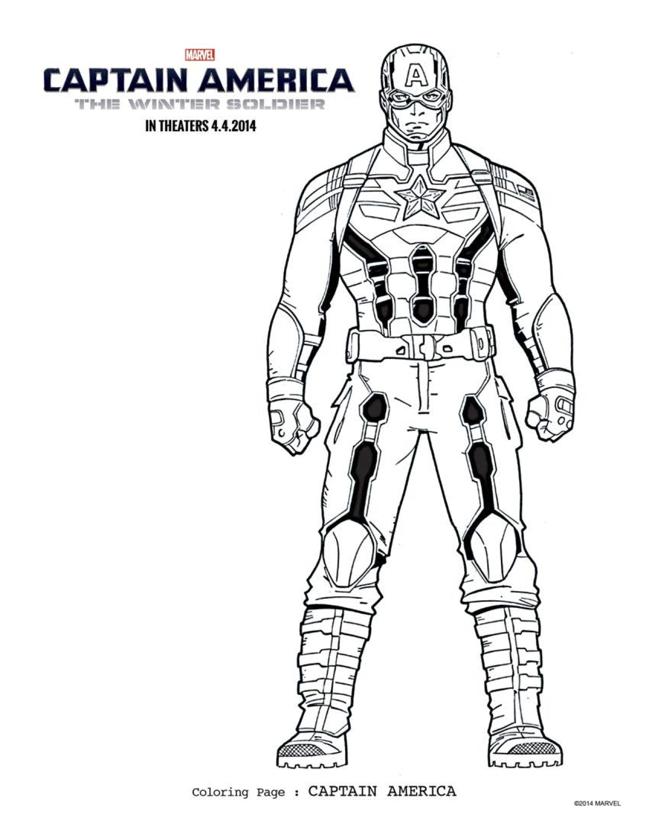 FREE Captain America 2 Coloring Pages: Download Printables ...