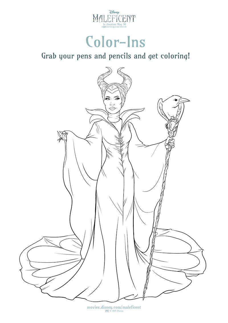 new maleficent printables and coloring sheets from disney free to