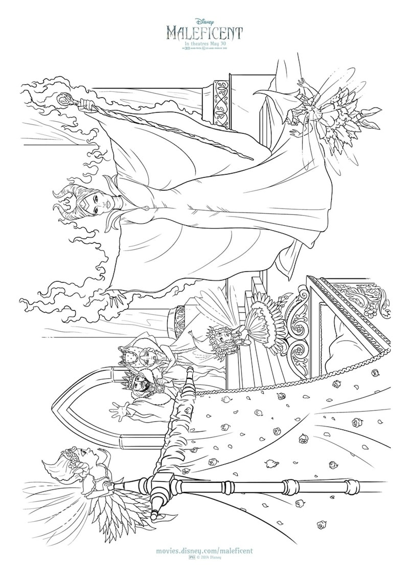 New MALEFICENT Printables And Coloring Sheets From Disney ...