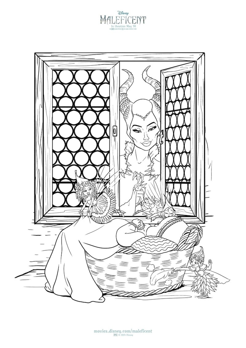 Maleficent coloring pages to print - New Maleficent Printables And Coloring Sheets From Disney Free To Download