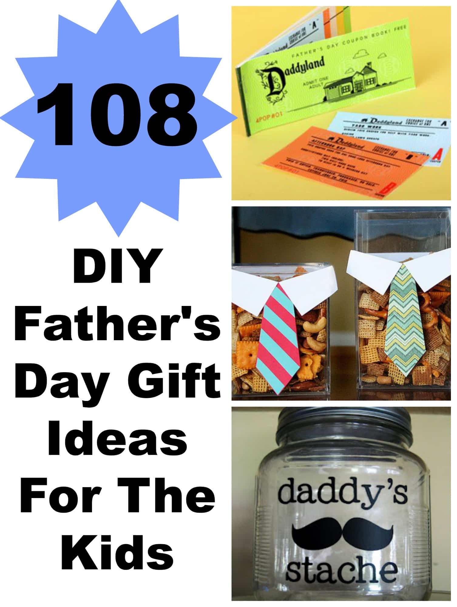 108 DIY Father's Day Gift Ideas For The Kids - Lady and the Blog