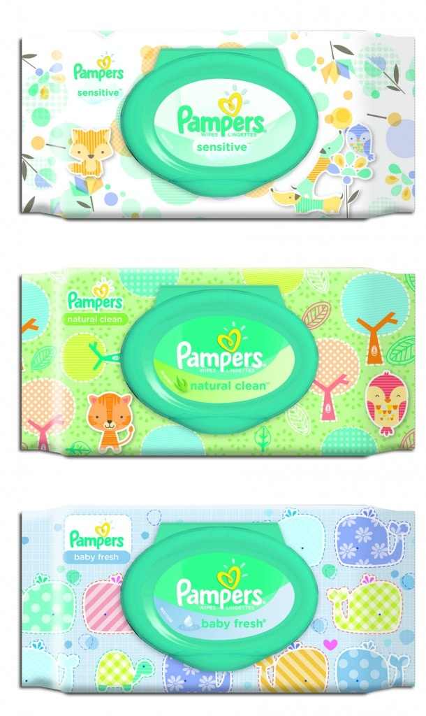 Pampers Wipes Collage