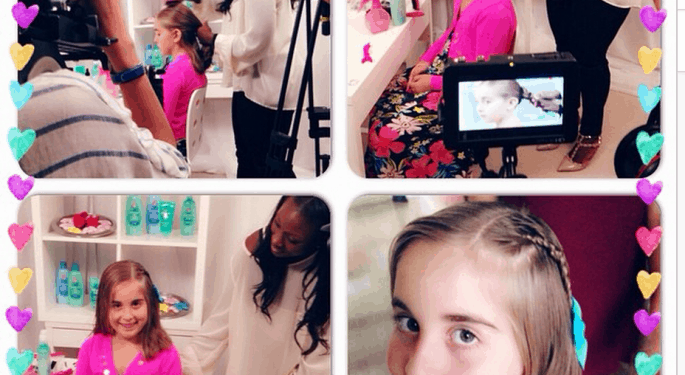 Johnson's® No More Tangles® Seasonal Hair Video Shoot In NYC With Natalie #NoMoreTangles