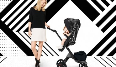 Stokke True Black Xplory Limited Adjustable Stroller