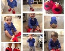Robeez Elmo Caleb Collage