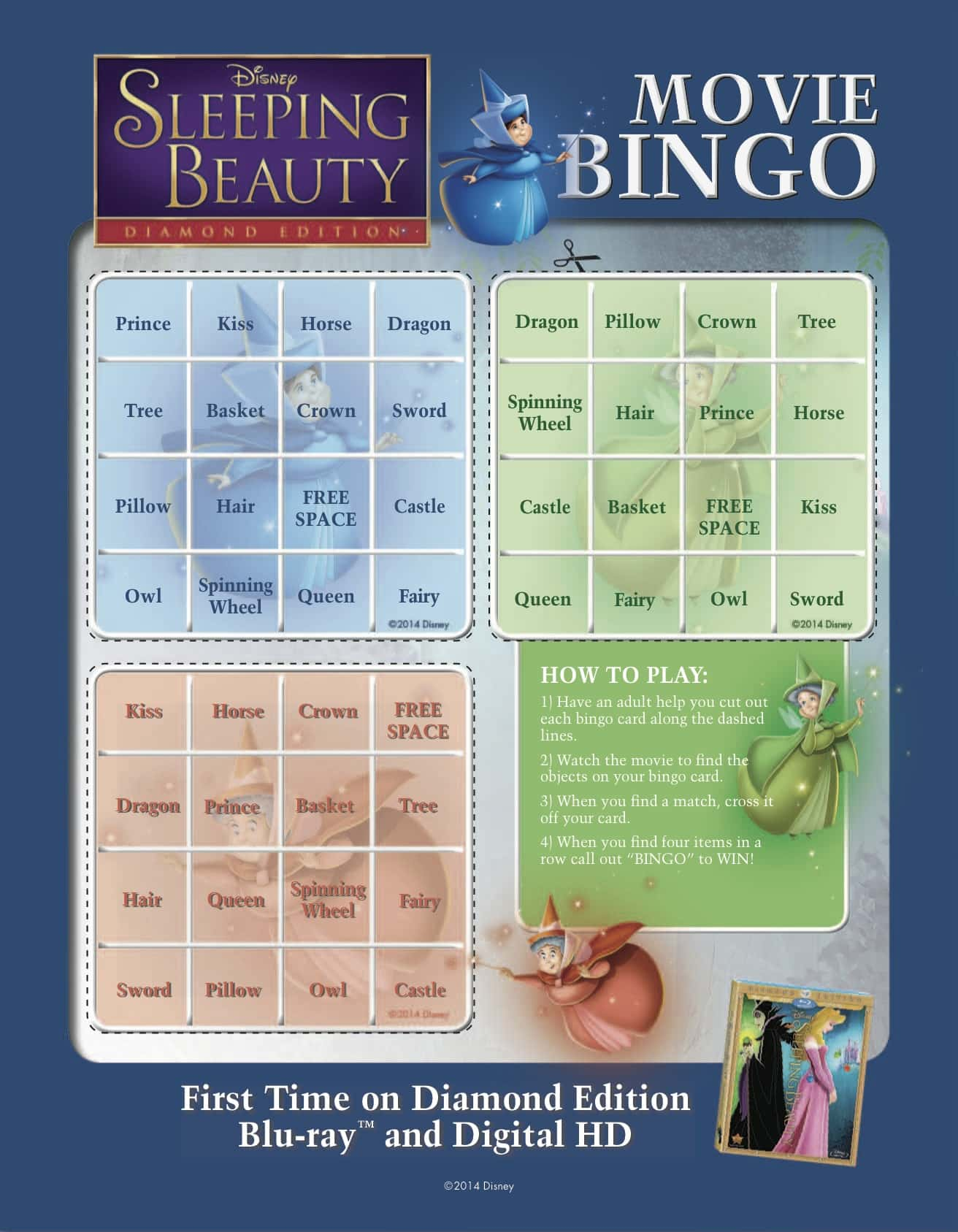 Sleeping Beauty Activity Sheet Kit for Kids