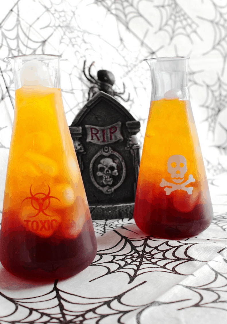 Spooky halloween drink toxic tonic lady and the blog for Easy alcoholic punch recipes for halloween