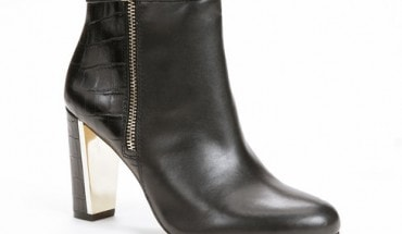Ann Taylor Sam Side Zip Leather Booties