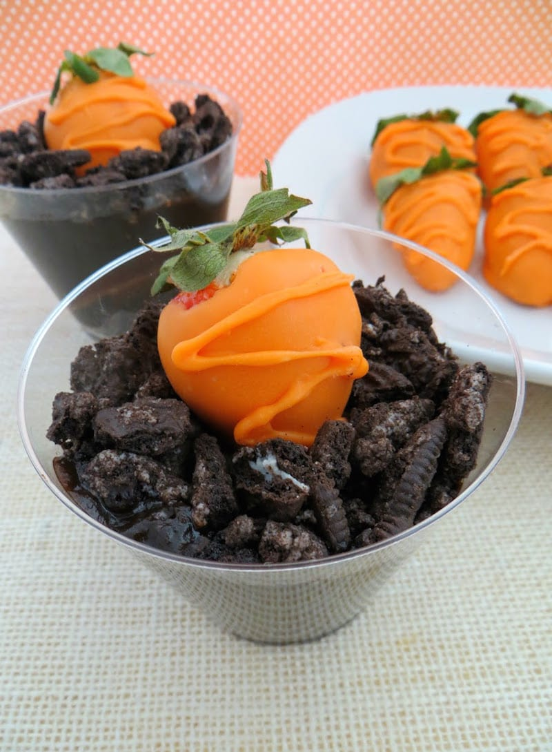 Carrots in dirt fun kids food craft for easter lady and for Fun kid food crafts