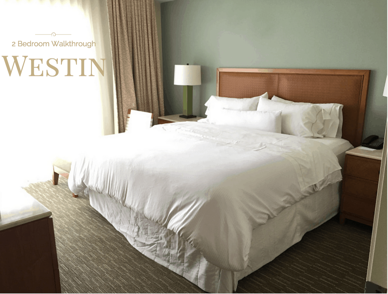 Westin Orlando Universal Boulevard - 2 bedroom suite Walkthrough