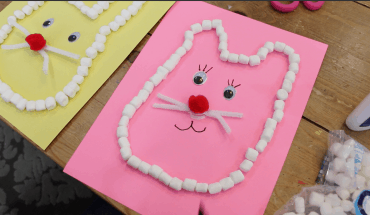 How To Make An Easter Bunny Craft With Marshmallows
