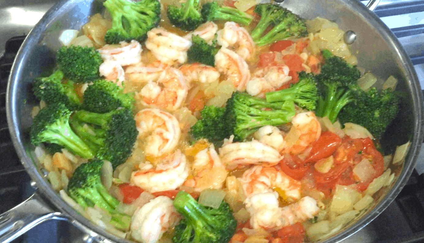 Shrimp And Broccoli Pasta Recipe How To Video Lady And