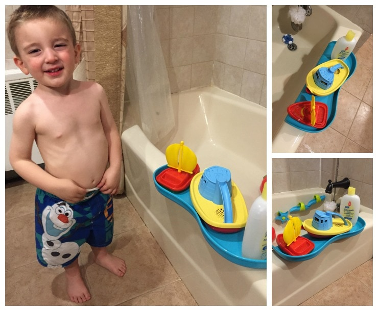 Shelfie: The Bathtub Tray for Safer Play!