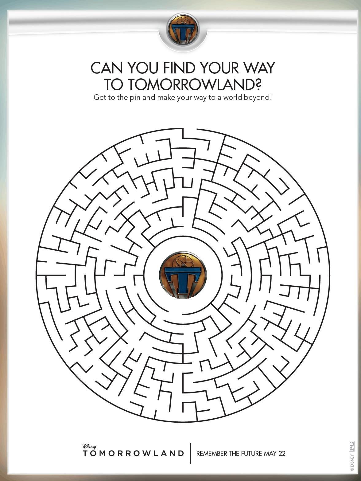 Tomorrowland Free Activity Sheets