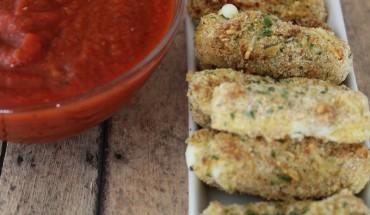 Healthy Homemade Mozzarella Sticks