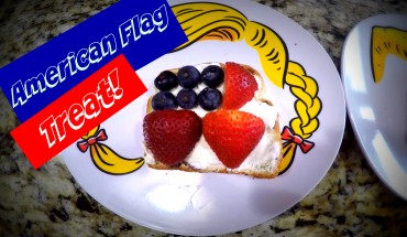 Easy To Make Snack For Kids: American Flag Themed