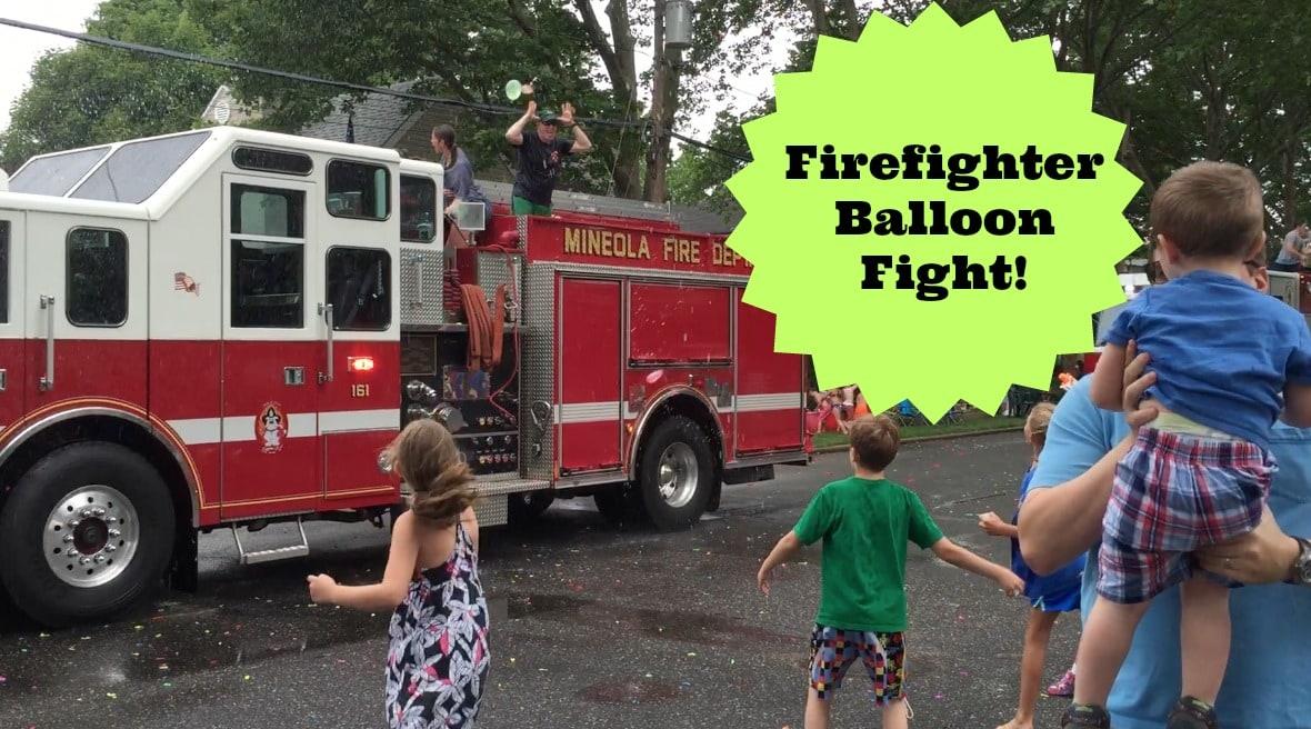 firefighter balloon fight
