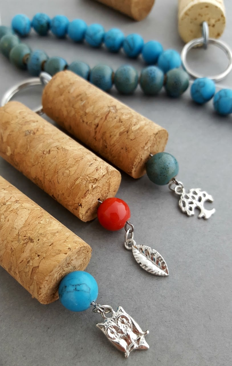 Diy Wine And Cork Keychain How To Instructional Lady