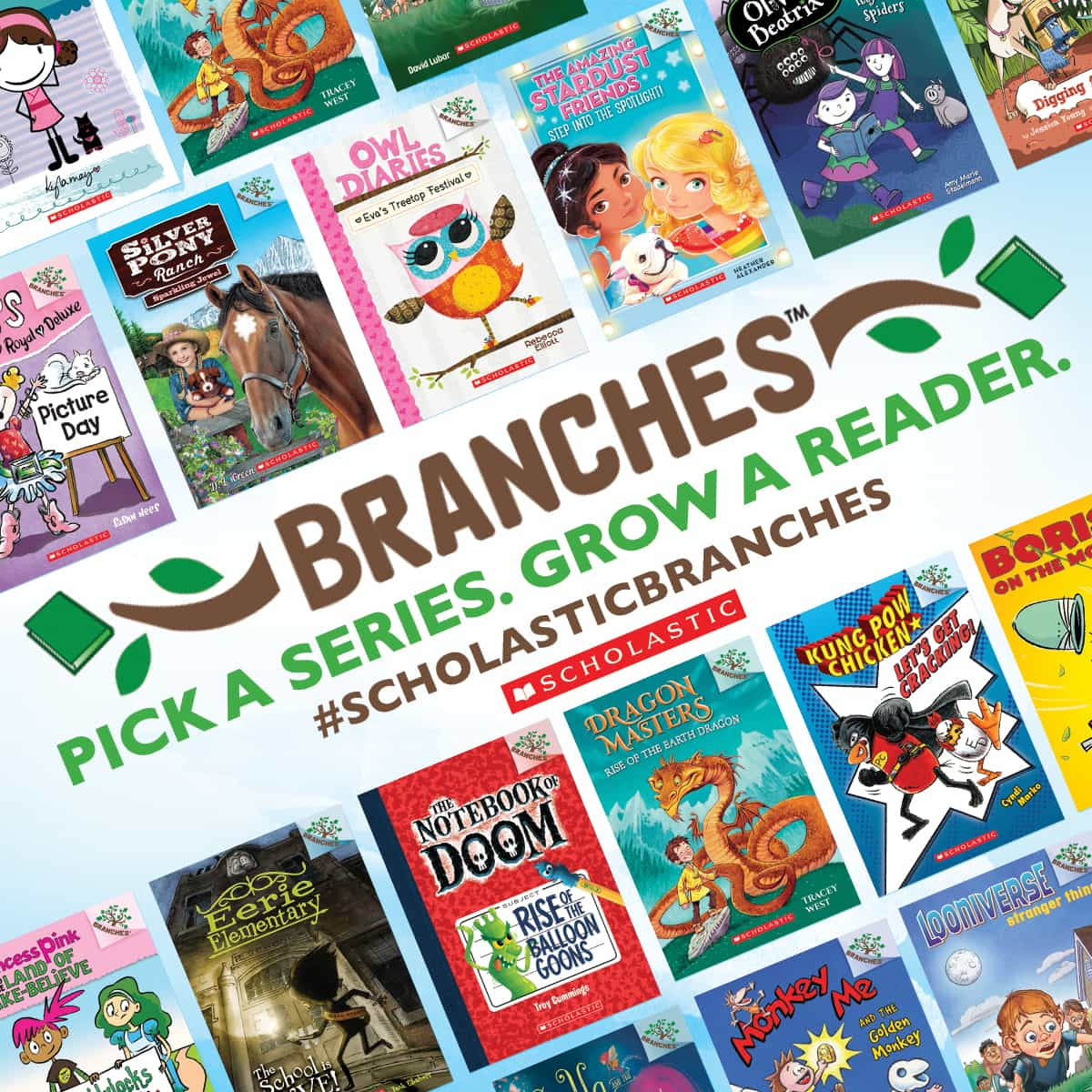 "ENTER TO WIN: Scholastic Branches ""Pick a Series, Grow a Reader"" Book Sampler Pack #ScholasticBranches"