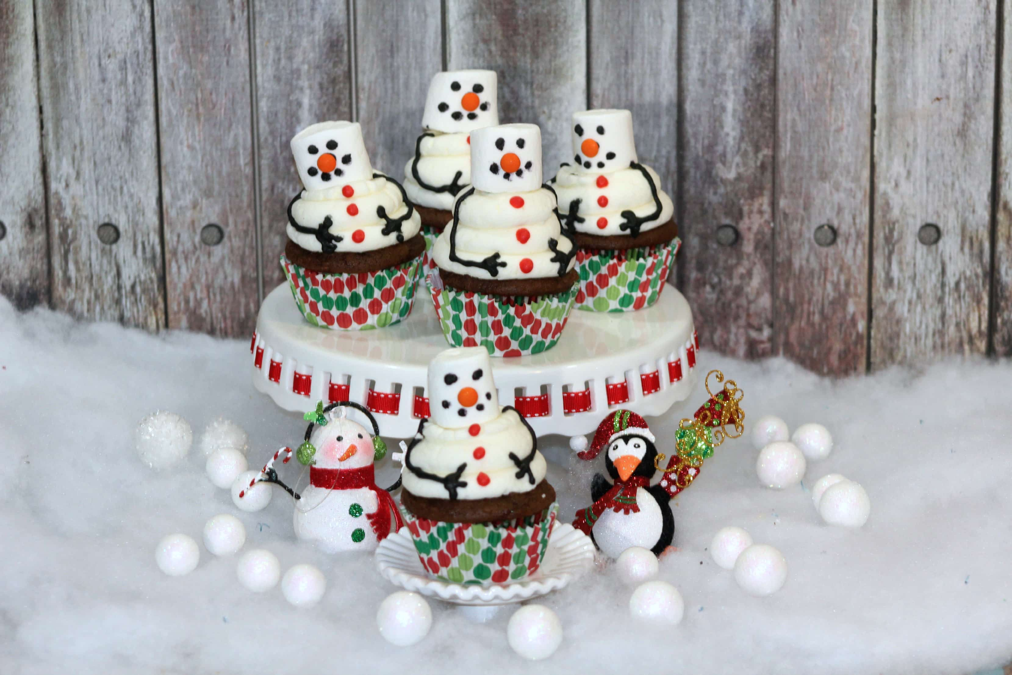 Snowman Cupcakes Recipe With Homemade Icing