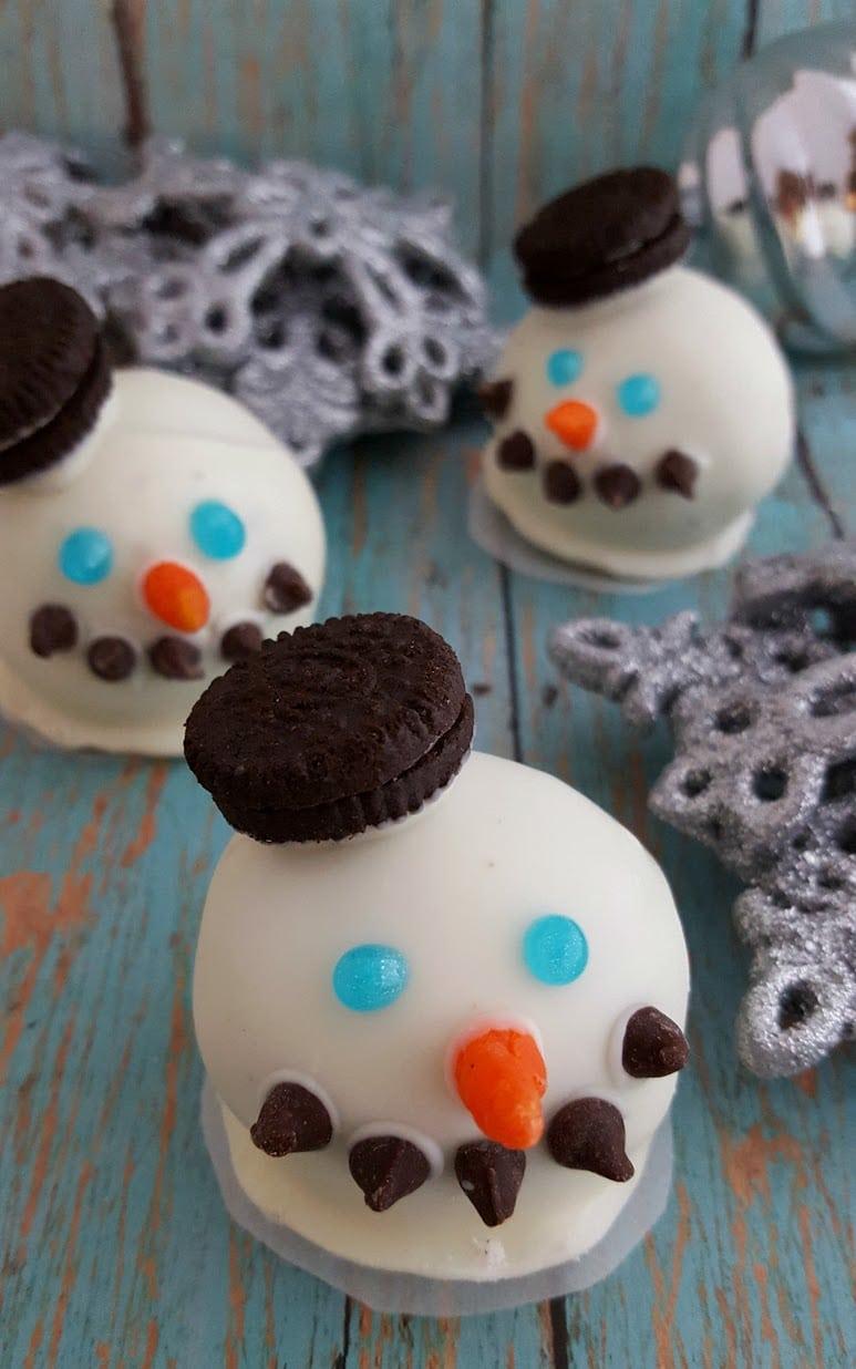 Snowman Oreo Truffle Recipe