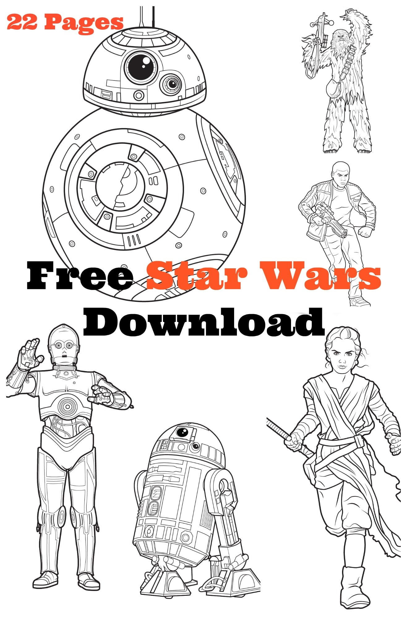 mega star wars free coloring activity kit download here starwars theforceawakens lady and the blog - Star Wars Free Coloring Pages