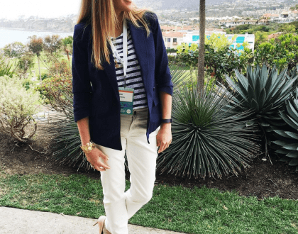 California Style: Blazers and Nude Heels #WhatSheWore