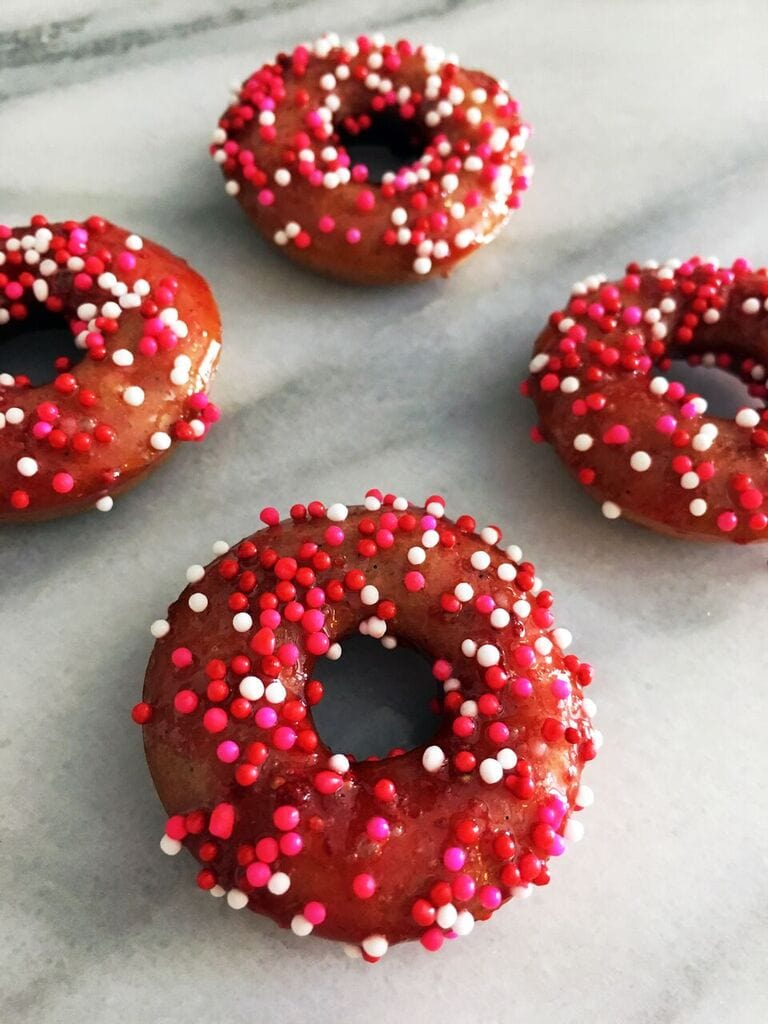 Baked Strawberry Mini Doughnuts Recipe & Mother's Day Trifle