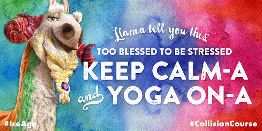 Celebrate International Yoga Day with Ice Age: Collision Course, in theaters July 22!