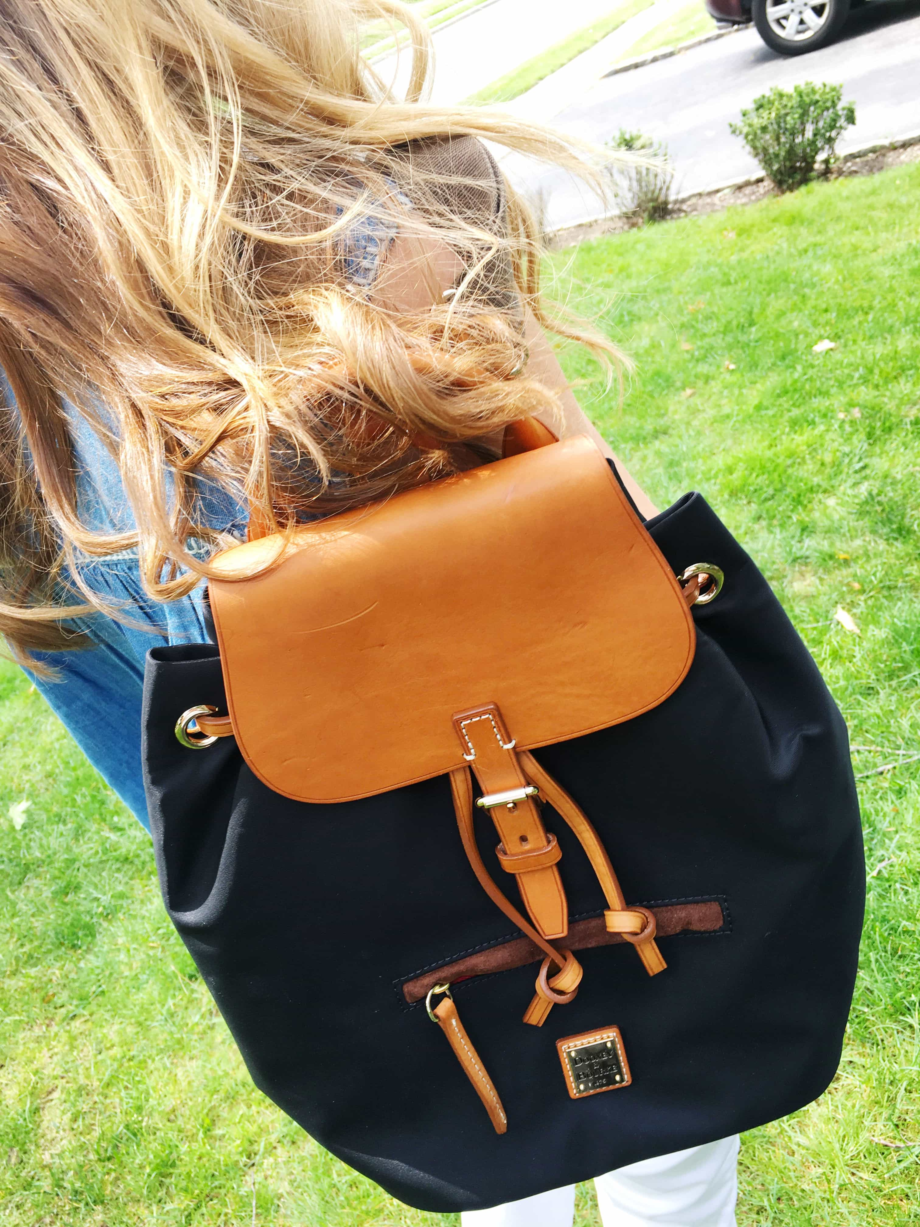 Dooney & Bourke - Windham Small Allie Backpack (Black/Natural Trim)