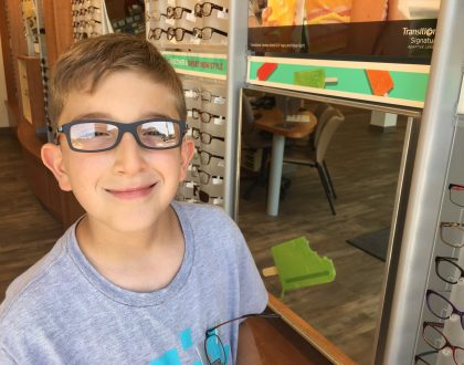 New Glasses For Liam: One Stop Shop Feel At Pearle Vision