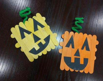 Easy Preschool Pumpkin Halloween Craft For Kids