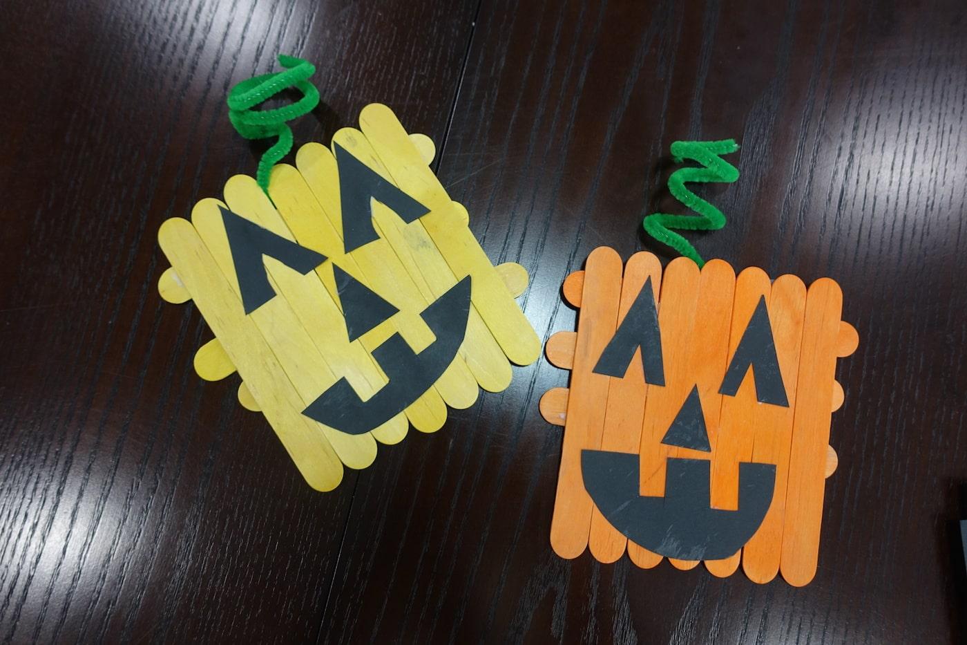 Easy Preschool Pumpkin Halloween Craft For Kids
