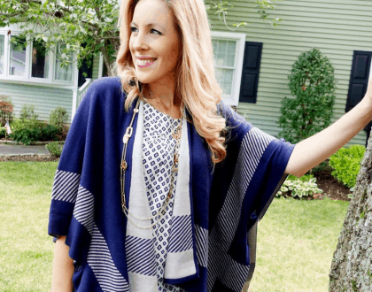 What She Wore: The Reversible Wrap Sweater From Cabi