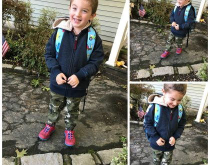 All Geared Up And Ready For Fall: Caleb's School Outfit For Today
