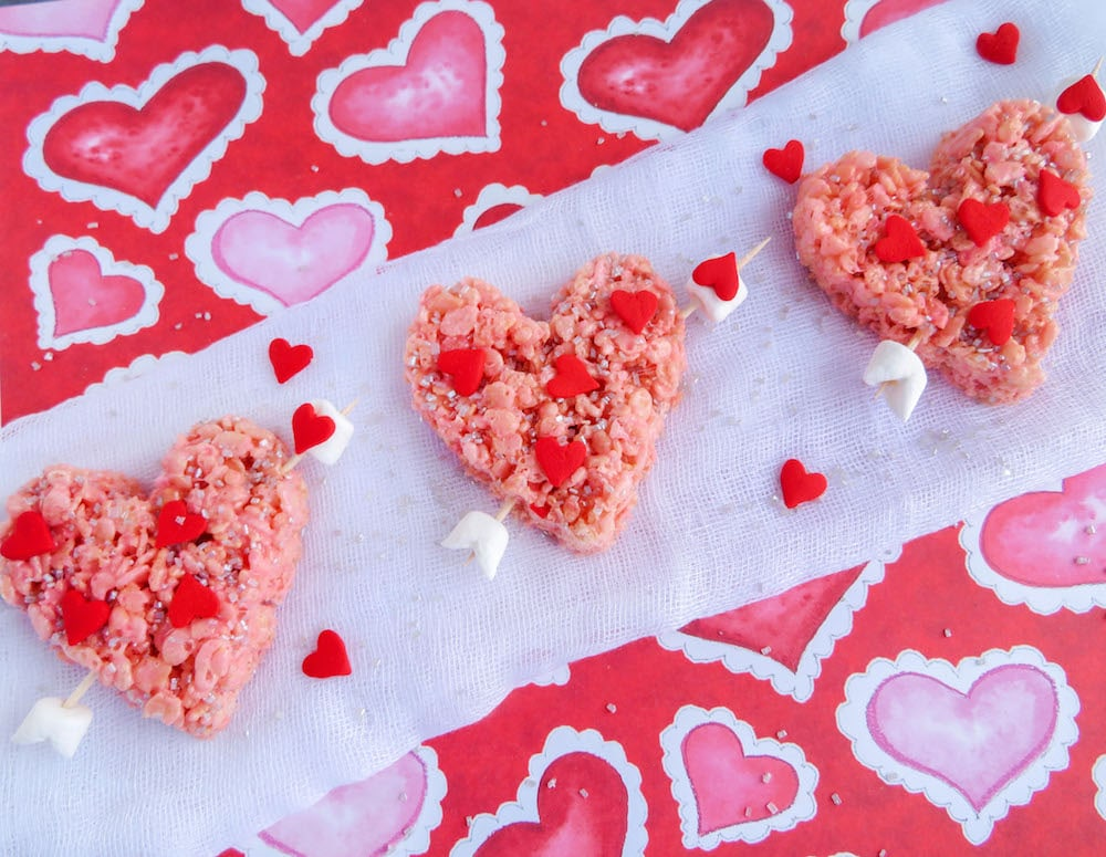 Valentineu0027s Day Rice Krispie Treats: Cupidu0027s Heart Recipe