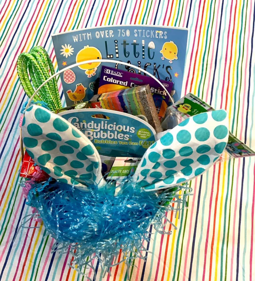 12 great ideas for your childs easter basket besides candy lady i like to buy small easter baskets and then overstuff them because it gives the illusion negle Images