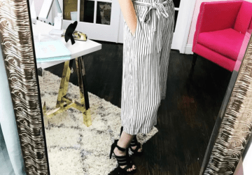 What She Wore: Stripe culotte tank jumpsuit