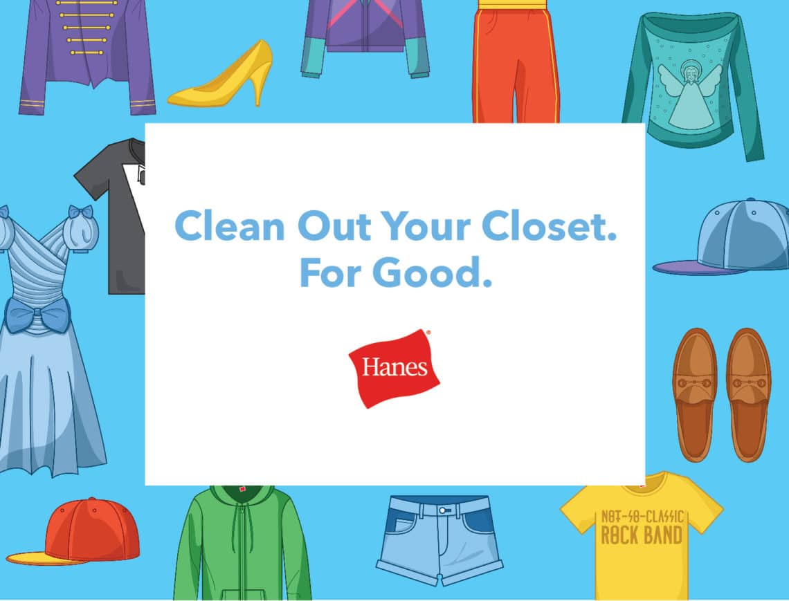 How To Clean Out Your Closet clean out your closet for good: hanes wants to help too